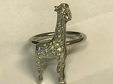 Giraffe TG44 Fine English Pewter on a Scarf Ring
