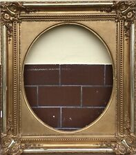 Antiker Bilderrahmen #1 Gold Prunkrahmen Biedermeier um 1850 70 x 60 cm Empire