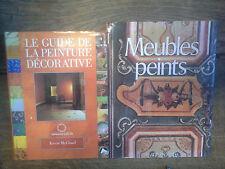 Lot de 2 livres Le guide de la peinture décorative + meubles peints