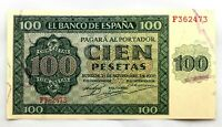 Spain- Guerra Civil. Billete. 100 Pesetas 1936. Burgos. SC-/UNC-. Perfecto