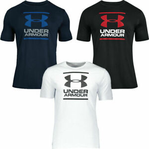 Mens Under Armour GL Foundation T-Shirt Boxed Sport-Style Cotton Crew Neck Tee