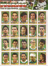 ORIGINAL Copa America Venezuela 2007 Sticker 123 to 142 Mexico for Panini Album