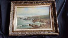 George Melvin Rennie paesaggio di mare (1874 -1953) OLIO Incorniciato Firmato & Datato 1901