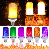 E26 108 LED Flame Fire Effect Simulated Nature Light Bulb Decor Atmosphere Lamp