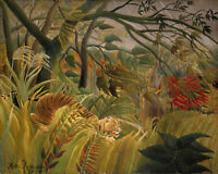 Tiger in a Tropical Storm (Surprise) by Henri Rousseau. Fine Art Print