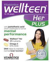 Vitabiotics Wellteen Her Plus - 56 Cognitive & immune Support and Fish Oils