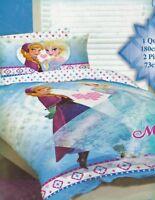 Kids Girls DISNEY FROZEN  SINGLE or DOUBLE  Duvet/Doona/Quilt Cover SET BNIP