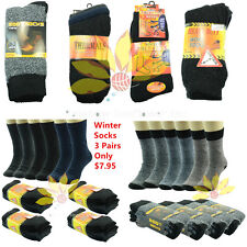 3 Pairs Mens Women Heavy Duty Winter Super Warm Work Boots Socks Crew Size 5-15