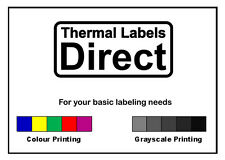 1000 x Personalised Printed Address Logo Colour Labels Stickers WHITE_65_001
