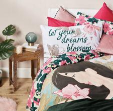 NEW! Disney Mulan Floral Double Reversible Duvet Cover Set