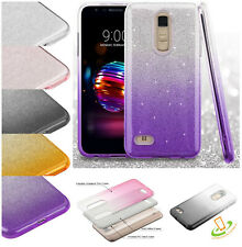 For Nokia 3.1 Plus Hybrid Bling Glitter Rubber Silicone TPU Protector Case Cover