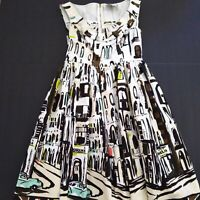 Kate Spade New York Havana Women's Dress Size Fit & Flare Rockabilly 6 Excellent
