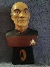 Star Trek Next Generation Captain Picard Cold Cast Bust Legends in 3D w/ coa