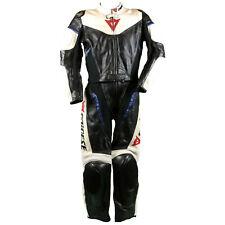 Dainese Lederkombi Gr. 46 Zweiteiler Motorradkombi Leather Suit Schwarz Weiß