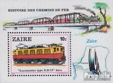 zaïre zaïrois Bloc 31 (complète edition) neuf avec gomme originale 1980 Locomoti