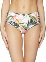 Body Glove Women's Swimwear White Size Large L Floral Bikini Bottom $64 #238