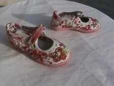 très jolies chaussures  basses roses à fleurs fille LELLI KELLY pointure 26