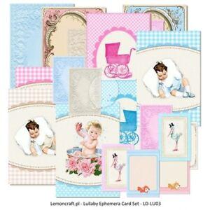 Lemoncraft Lullaby Ephemera Card Set