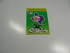1990 Fleer Baseball Logo Stickers Texas Rangers Baseball Quiz on back