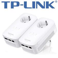 TP-Link av1200 tl-pa8030p 3-Port Gigabit pass through Powerline Starter Kit GigE