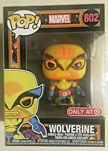 Marvel Wolverine Pop Vinyl Figure #802 Funko Target Black Light - Damaged Box