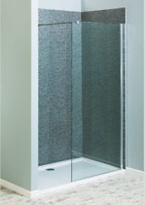 Walk In Shower Enclosure Stone Tray  1650 x 700 Tray plus 900 Glass Panel