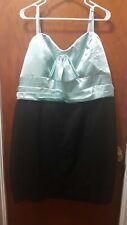 Brand New Torrid black and green blue strapless dress plus size 26