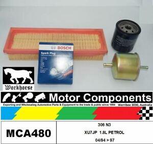 SPARK PLUGS & FILTER KIT for PEUGEOT 306 N3 XU7JP  1.8L PETROL 04/94 > 97