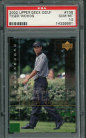 Tiger Woods 2002 Upper Deck Golf Card #106 Graded PSA 10 GEM MINT