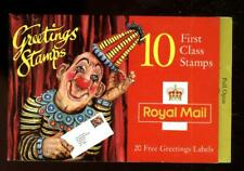 Great Britain  SG KX7  Circus Clown Greetings Booklet