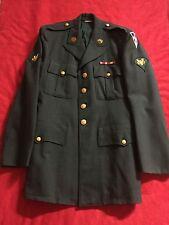Vietnam Era U.S. Army Dress Green Uniform - Jacket Coat Size 39L