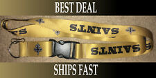 New NFL Team Colors KeyChain Lanyard New Orleans Saints SHIPS FREE