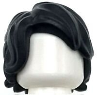 Lego New Black Minifigure Hair Mid-Length Tousled with Side Part Male Wig Piece