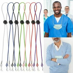 Anti-lost Protect Ears Face Mask Lanyards Glasses Rope With  Clips Neck Straps