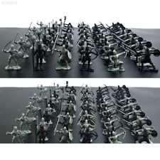 60pcs Medieval Knights Warriors Horses Soldiers Figures Model Playset Kids Toy