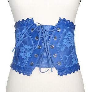 Womens Belt Corset Lace Bow Tie Belts Elastic Wide Skinny Waist Trainer Lingerie