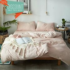 Luxury Duvet Cover Set Queen Size Solid Pink Thickened Velvet with 2 Pillow Sets