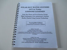 SOLAR HOT WATER SYSTEMS-1977 TO TODAY-TOM LANE-25 TWENTY FIFTH EDITION-BOOK-2003