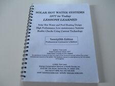 Solar Agua Caliente SYSTEMS-1977a Today-Tom LANE-25 Twenty Fifth EDITION BOOK