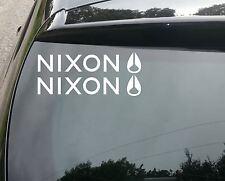2x Nixon SURF divertente Auto / Finestra JDM VW Euro Vinile Adesivo Decalcomania
