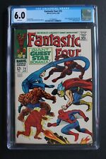FANTASTIC FOUR #73 vs Spider-Man Thor Daredevil battle 1968 Lee KIRBY CGC FN 6.0