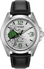NEW Citizen The Hulk Men's AW1431-24W Silver-Tone 45mm Strap Watch MSRP $225