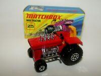 Matchbox Superfast No 25 Mod Tractor RED 5 SPOKE Front Wheels VNMIB