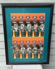 Miami Dolphins Uncut Sheet of 1994 Season Tickets Framed and Matted EXC COND!