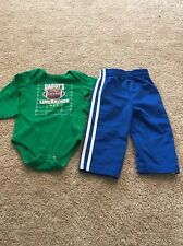Garanimals Toddler Boys Green Blue Daddys Linebacker Outfit 12 Months