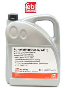 1 X 5 Liter Automatic Transmission Fluid FEBI ATF AMBER/CLEAR