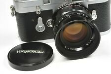 Voigtlander 50mm f:1.5 NOKTON, Leica Ltm Con Adaptador Para Bessa & Leica Monte M