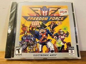 Brand New Sealed Freedom Force PC Computer 2002 Superhero EA Electronic Arts
