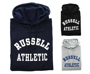 Russell Athletic Men's Hoodie Big & Tall Fleece Lined Pullover Graphic Logo Top