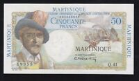MARTINIQUE ------ 50  FRANCS  1947 --- HIGH GRADE --- XF+/a-UNC -----RR